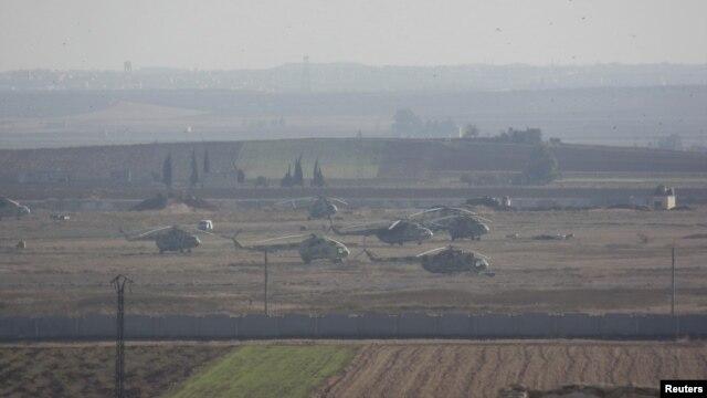 시리아 북부 이들리브주 타프타나즈 공군 기지의 지난해 11월 모습.