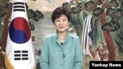 31일 박근혜 한국 대통령이 을미년 신년사를 하고 있다.