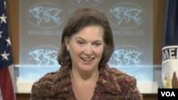 美國國務院發言人努蘭(美國之音視頻截圖)