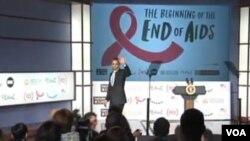 Presiden AS Barack Obama pada peringatan hari AIDS sedunia menjanjikan dana tambahan bagi pemberantasan AIDS (1/12).