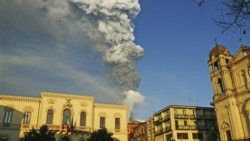 Smoke and ash from Italy's Mount Etna volcano last week