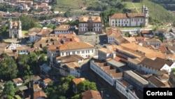Centro histórico de Ouro Preto, Minas Gerais, Brasil.