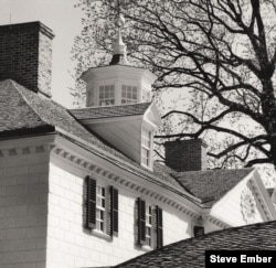 Architectural detail of George Washington's home, Mount Vernon, shows the cupola atop the residence, from which hot air could escape. Photo by Steve Ember