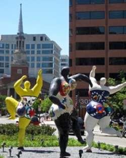 """The Three Graces"" by Niki de Saint Phalle"