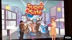 """U Pozorištu mladih u Sarajevu, prikazan animirani film """"Nasilje nad djecom"""" i predstavljene mobilna aplikacija/igrica """"Super safe"""" i memorijska igrica """"Stay safe""""."""