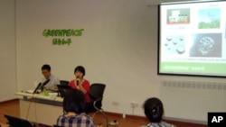 绿色和平长江水污染调查报告发布会现场