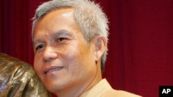 FILE - Lao civil society leader Sombath Somphone of is seen in Manila, Philippines, Aug. 31, 2005.