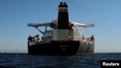 Le pétrolier Grace 1 rebaptisé Adrian Darya, Gibraltar, le 18 août 2019