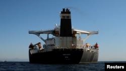 İranın tankeri Gibraltar boğazında, 18 avqust, 2019.