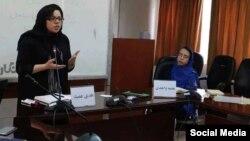 نجمه واحدی و هدی عمید، دو فعال حقوق زنان