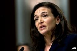 Eksekutif Facebook Sheryl Sandberg. (Foto: dok).