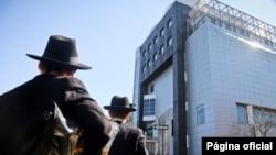 資料照片:紐約市布魯克林區的猶太教堂(2017年3月9日)