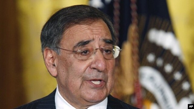 CIA Director Panetta addresses reporters during briefing in East Room of White House in Washington (file photo)