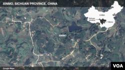Letak provinsi Sichuan di China.