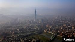 台湾台北鸟瞰 (资料照片)