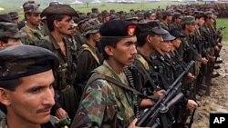 Lực lượng Vũ trang Cách mạng Colombia FARC (hình tháng 4/2000)