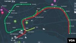 Bakı metrosunun xəritəsi