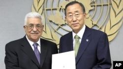 巴勒斯坦领导人阿巴斯和联合国秘书长潘基文