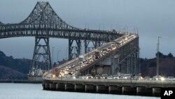 El nuevo puente de la bahía San Francisco-Oakland.