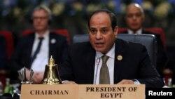 FILE - Egyptian President Abdel-Fattah el-Sissi attends a summit in the Red Sea resort of Sharm el-Sheikh, Egypt, Feb. 24, 2019.