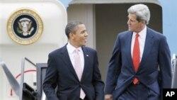 Tổng thống Obama và tân Ngoại trưởng Mỹ John Kerry.