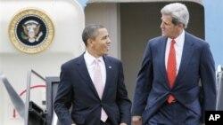 Барак Обама и Джон Керри (архивное фото)
