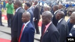 President Robert Mugabe at the National Heroes Acre.