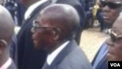 President Robert Mugabe at the National Heroes Acre on Thursday.