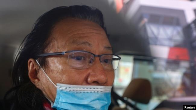 香港九龙城区议员黄国桐2021年1月14日被警方逮捕(路透社)