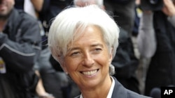 IMF managing director Christine Lagarde in Brussels (File)