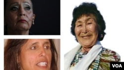 Pictured, clockwise from top (L), Oglala Lakota activist LaDonna Brave Bull Allard, Yup'ik traditional healer Rita Pitka-Blumenstein and Anishinaabe activist Winona LaDuke.