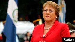 FILE - Chile's President Michelle Bachelet, May 12, 2014.