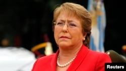 FILE - Chilean President Michelle Bachelet