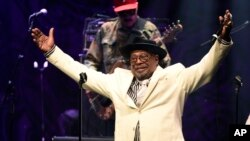 George Clinton performs with The Parliament Funkadelic during EBONY magazine's 30th Annual Power 100 Gala at the Beverly Hilton, Dec. 2, 2015, in Beverly Hills, Calif.