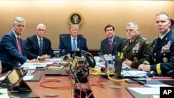 Presidenti Donald Trump duke monitoruar operacionin për al-Baghdadin