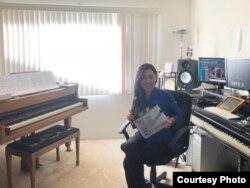 Ruang kerja Jesica Yap di Los Angeles, California (dok: Jesica Yap)