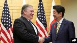 Državni sekretar SAD Majk Pompeo i premijer Japana Šinzo Abe