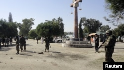 На месте теракта. Хост, Афганистан. 1 октября 2012 года