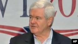 美国共和党总统参选人、前众议院议长金里奇