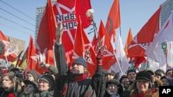 莫斯科數千人進行反普京集會。