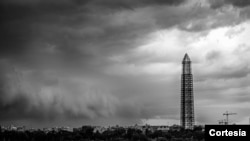 Scaffolding Protects Washington Monument