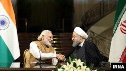 نشست خبری حسن روحانی رئیس جمهوری ایران و نارندرا مودی نخست وزیر هند در تهران - ۳ خرداد ۱۳۹۵