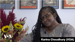 Monica Geingos talks with VOA about her work as Namibia's first lady (Karina Choudhury/VOA)