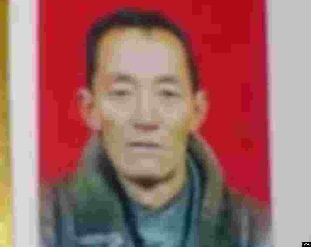 ທ່ານ Dorjee Rinchen ອາຍຸ 57 ປີ ໄດ້ເອົາໄຟເຜົາຕົນເອງຕາຍໃນວັນອັງຄານ 23 ຕຸລາ 2012