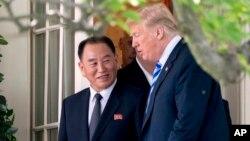 ترمپ روز جمعه با معاون رهبر کوریای شمالی در قصر سفید ملاقات کرد.