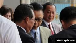 지난해 9월 북한의 김계관·리용호 외무성 부상과 최선희 외무성 부국장이 중국이 주최한 반관반민 성격의 6자회담 학술세미나 참석을 위해 베이징을 방문했다. (자료사진)