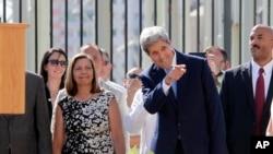 Le Secrétaire d'Etat américain John Kerry lors de sa visite à La Havane, Cuba, vendredi 14 août 2015.