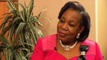Catherine Samba-Panza, présidente de la transition en Centrafrique. Washington, 19 septembre 2014