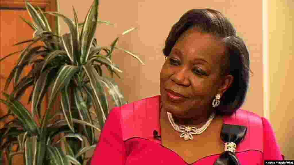 Catherine Samba-Panza, présidente de la transition en Centrafrique
