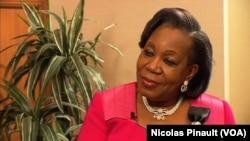 Catherine Samba-Panza, présidente de la transition en Centrafrique (VOA)